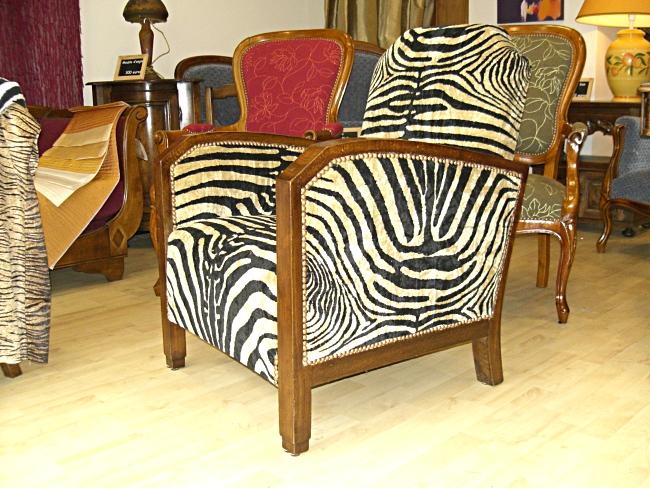 Eric delion tapissier d corateur r fection restauration - Fauteuil zebre ...